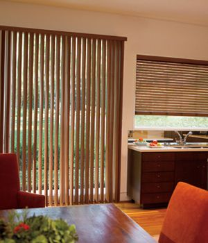 levolor visions faux wood vertical blinds woods window and patio