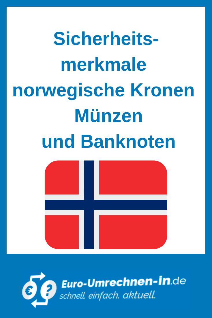 Sicherheitsmerkmale Norwegische Kronen Norwegisch Nordkap Krone