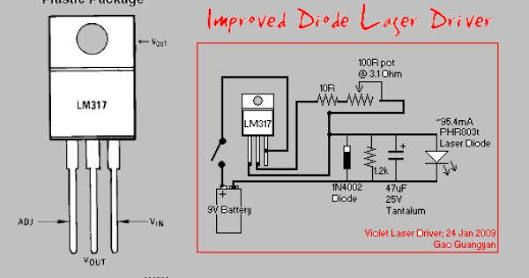 Lm317 Laser Driver Schematic And Pcb Circuit Projects Laser Electronics Projects