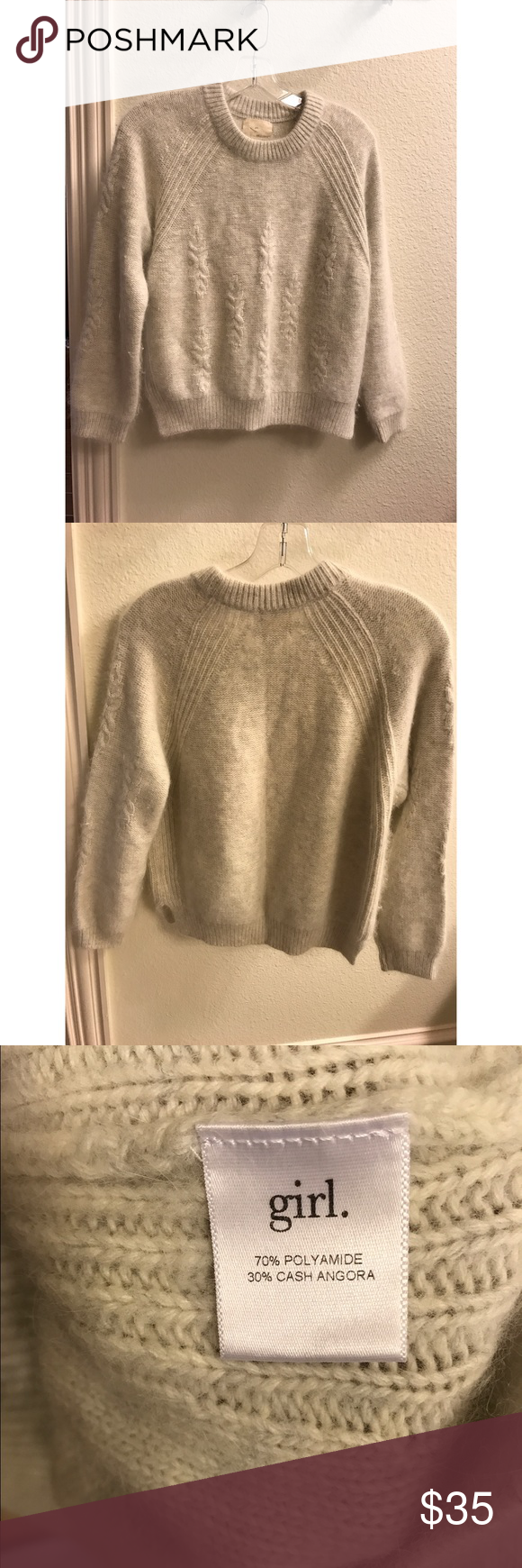 Cute angora sweater Barely any pilling, soft girl Sweaters Crew & Scoop Necks