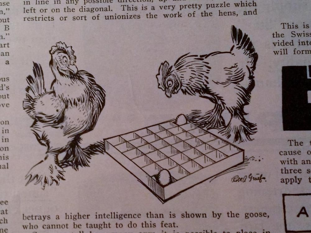 1907 SAM LOYD PUZZLE PAGE- THE HINDU PROBLEM- UPWARD OF 3,000 YEARS OLD
