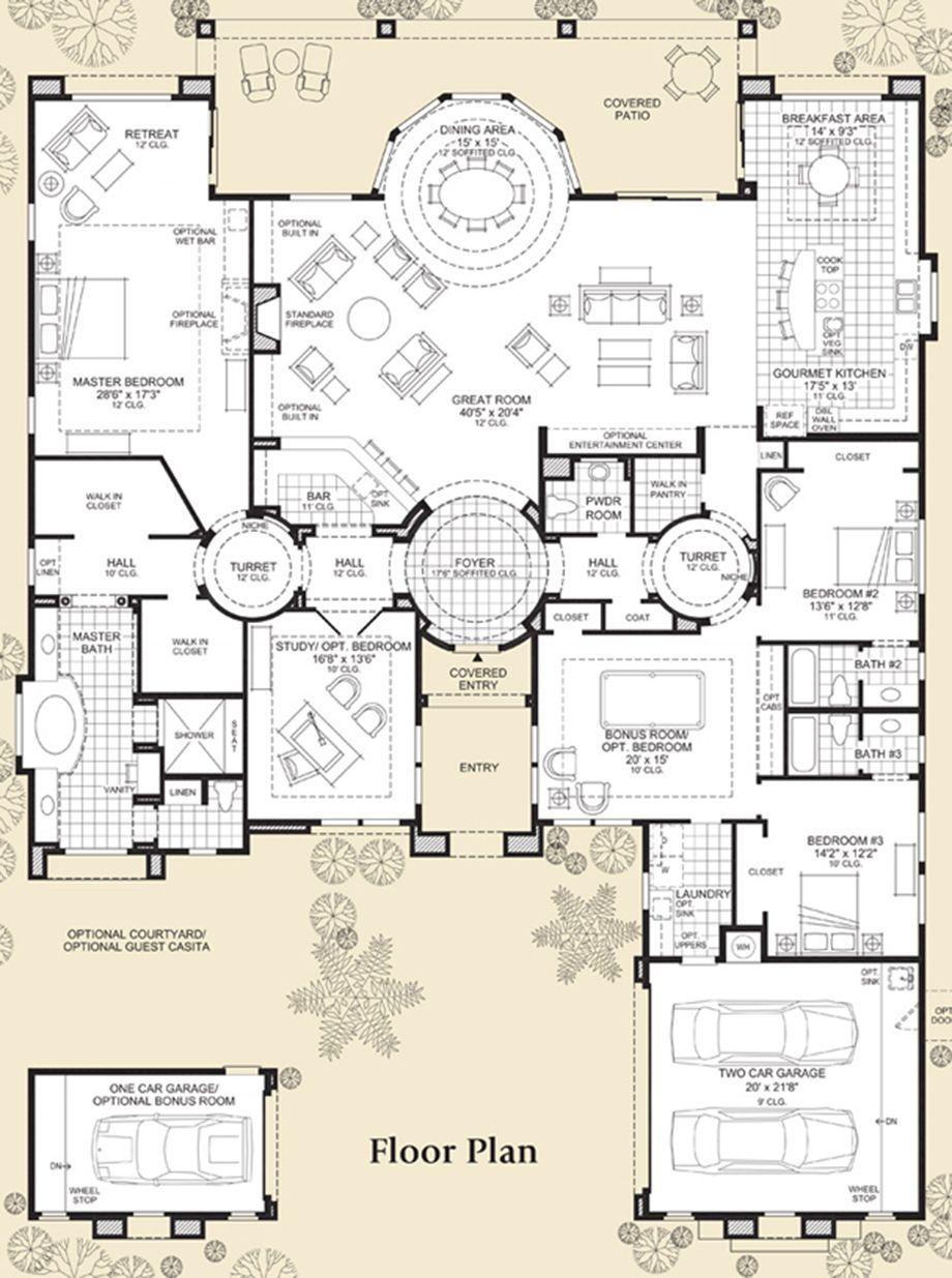 Saguaro Estates The Venado Home Design Unique House Plans Dream House Plans Home Design Plans