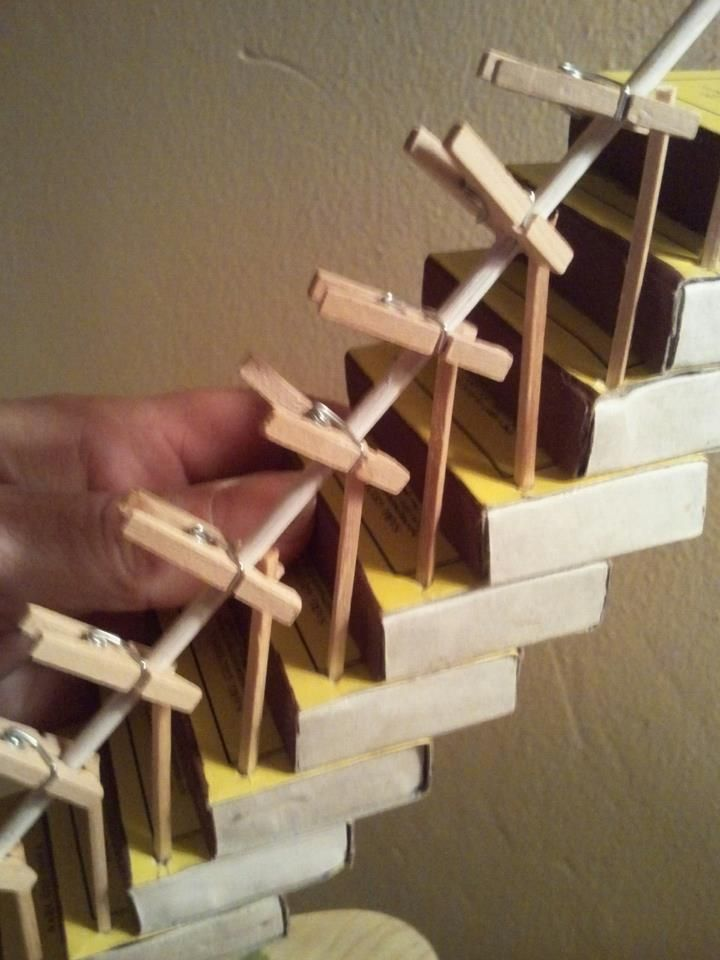 using clothespins while drying minis