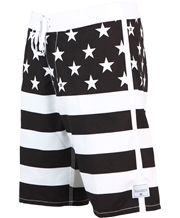 dd7b03f097 Love the B look here - Billabong Stars and Stripes Black Sport Shorts, Swim  Shorts