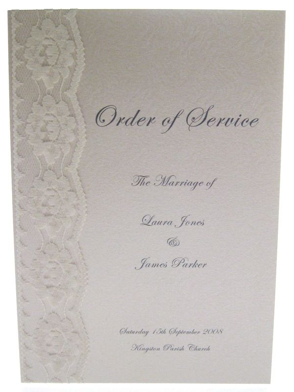 Lace Order Of Service
