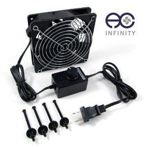 120mm Speed Control Cooling Fan System. For Home Theater DVR Media Cabinets