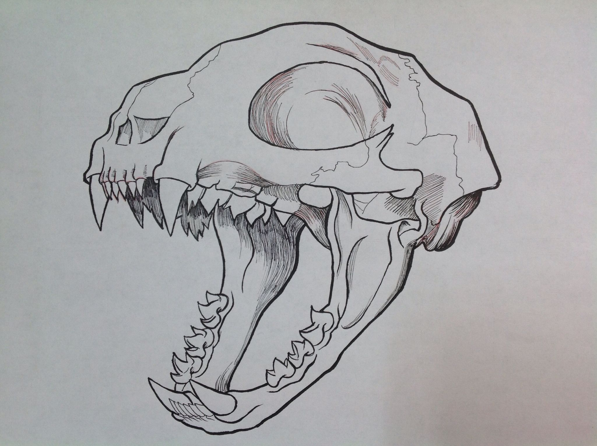 Lineart Wolf Tattoo : This skull is a base for the villain cyto lopsy. he has thin body