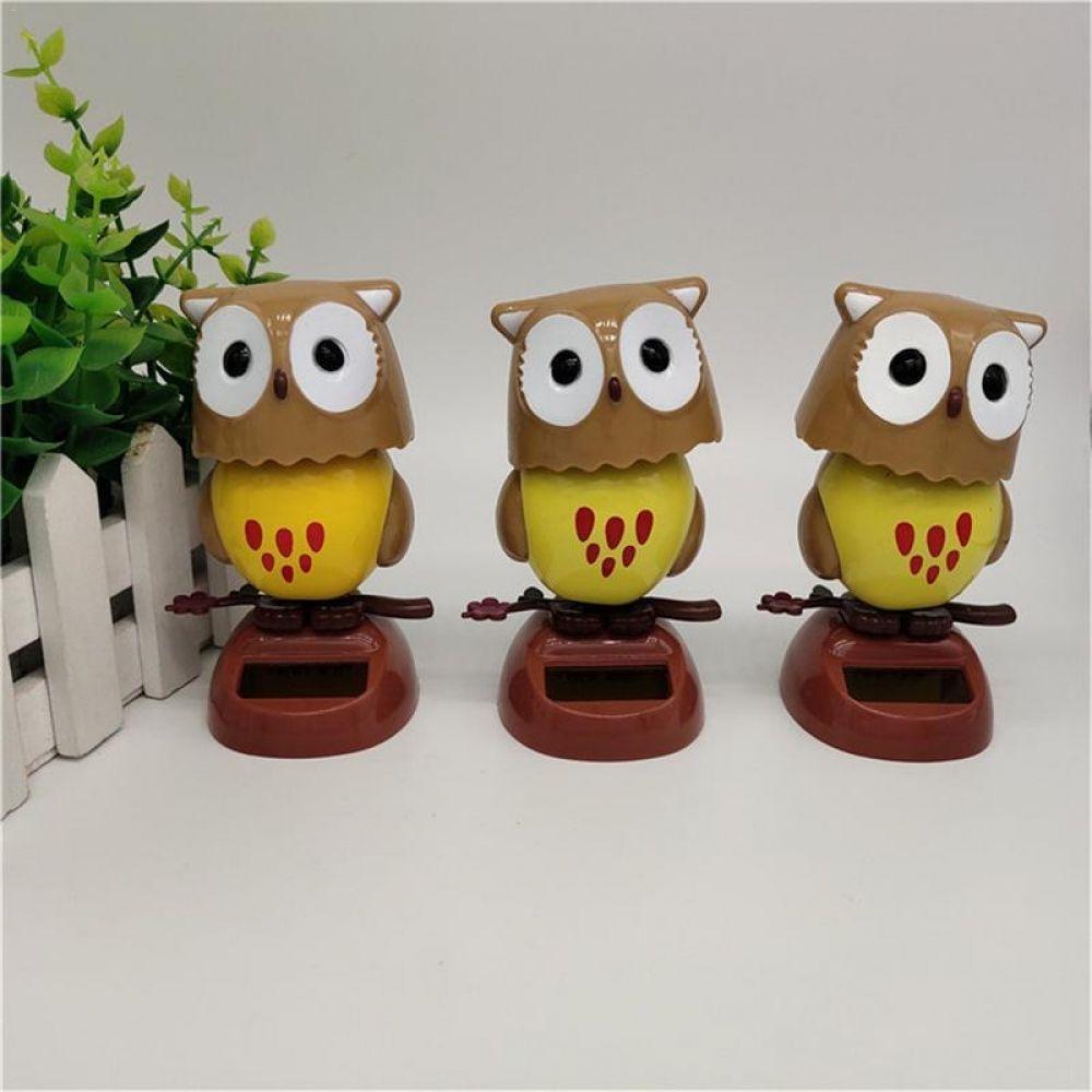 Solar Creative Swing Owl Shaking Head Doll Cartoon Decoration Gift Children S Toys In 2020 Kids Toys