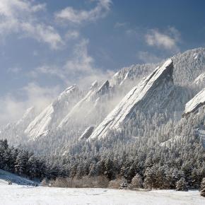 The Flatirons in winter, Boulder, Colorado - Pixdaus