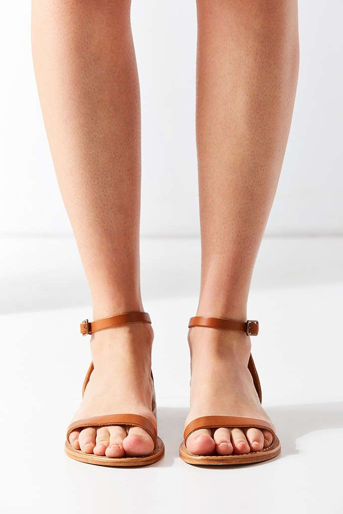 4d62c7fea3e Hazel Leather Thin Strap Sandal - Urban Outfitters