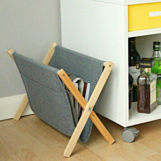 DIY Folding Magazine Rack DIY Pinterest Mesmerizing Foldable Magazine Holder