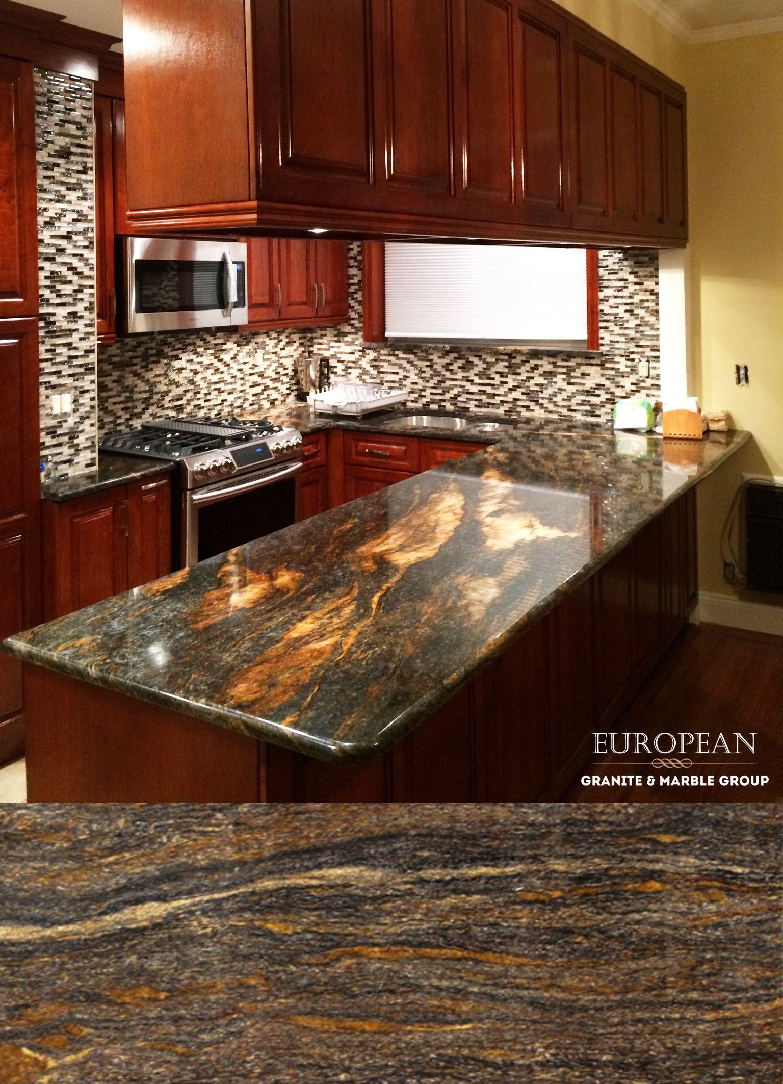 This Kitchen Design Features Orion Granite Countertops Orion Granite Has A Medi Outdoor Kitchen Countertops Best Kitchen Designs Granite Countertops Kitchen