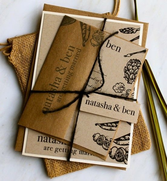 Natural Love Personalized Eco Friendly Wedding Invitations