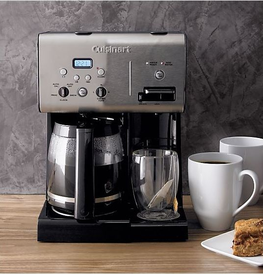 Cuisinart Coffee Plus 12 Cup Programmable Coffeemaker Plus Hot Water System Reviews Crate And Barrel Cuisinart Coffee Maker Coffee Maker Machine Coffee Maker With Timer
