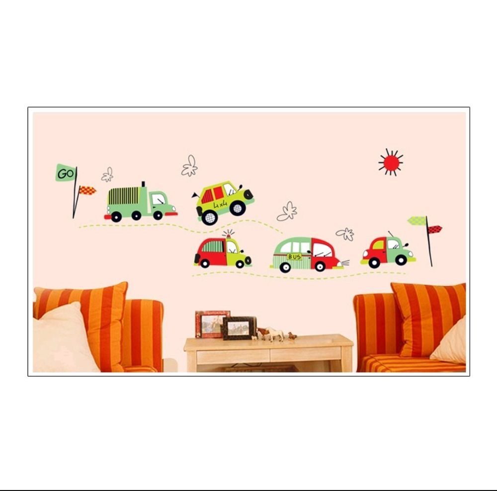 Trucks And Cars Wall Decal Sticker Baby Boy Nursery Baby Nursery Decor Wall Decor Ebay Baby Nursery Decals Nursery Vinyl Kids Wall Decals [ 988 x 1000 Pixel ]