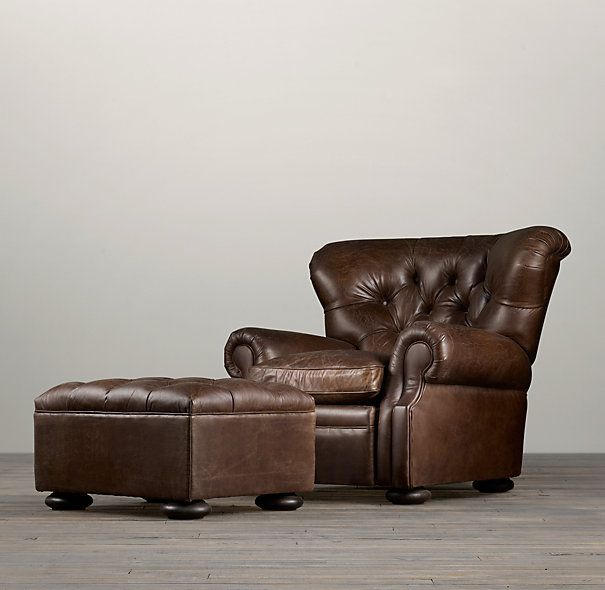 Churchill Leather Ottoman I Feel Like I Need Home