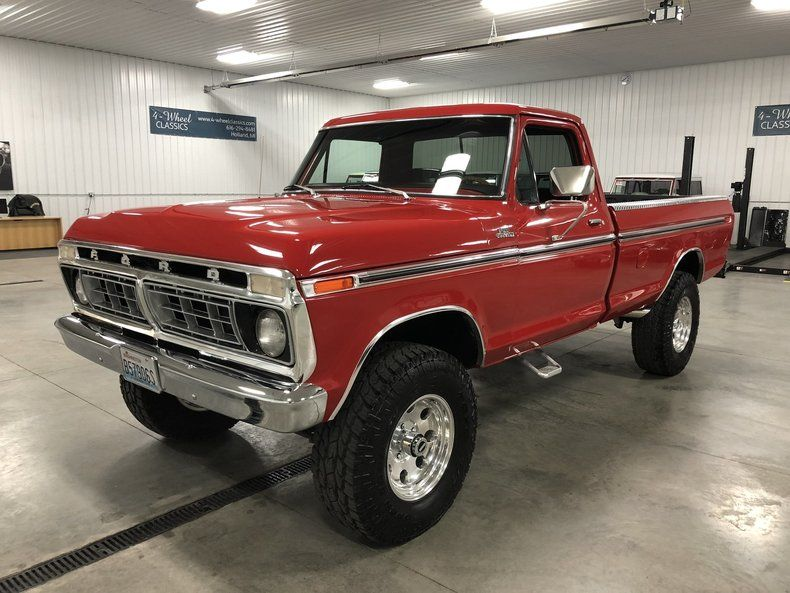 This 1975 Ford F100 Is A Frame Off Restored Truck From Out West And It Is Beautiful This Truck Was Restore Classic Ford Trucks Ford Pickup Trucks Ford Pickup