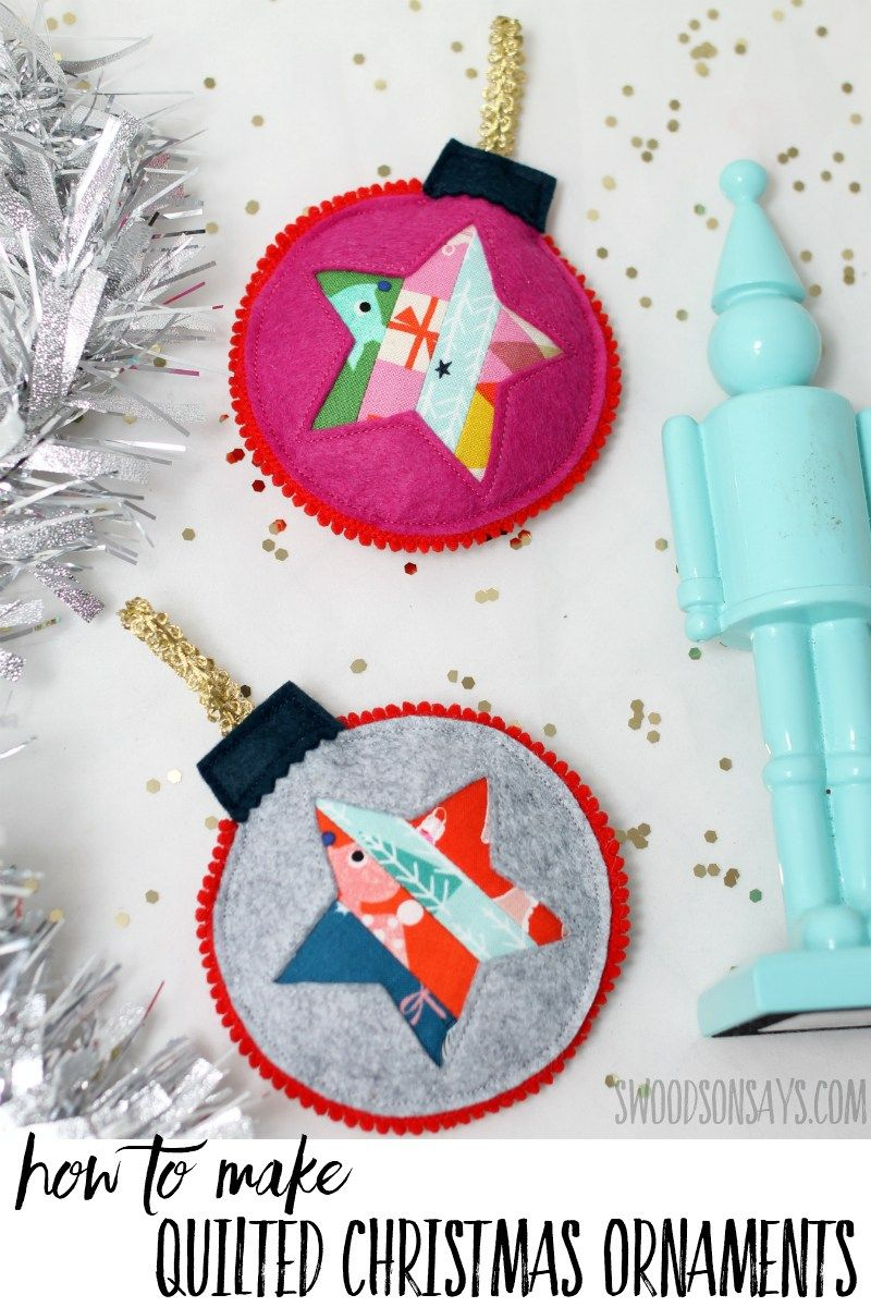 How To Make Handmade Quilted Christmas Ornaments Christmas