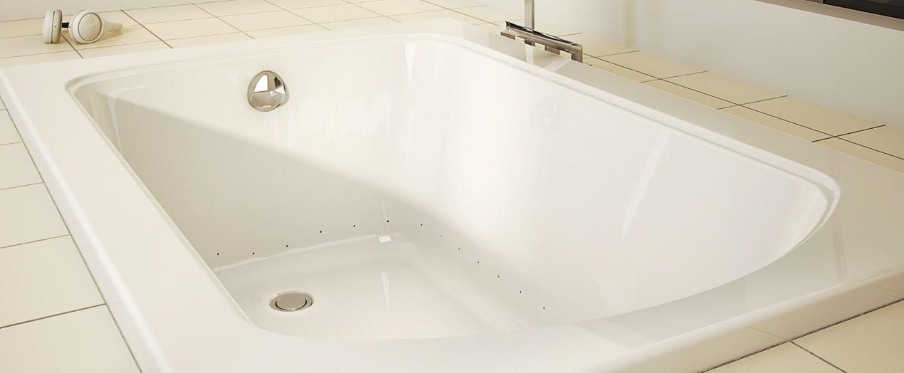 Bainultra Meridian® 6030 alcove drop-in air jet bathtub for your ...