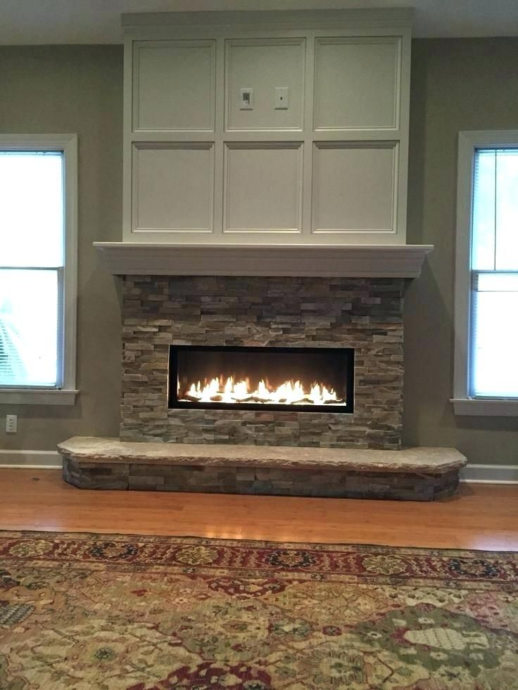 Tv On Top Of Fireplace Mantel Height With Above Linear