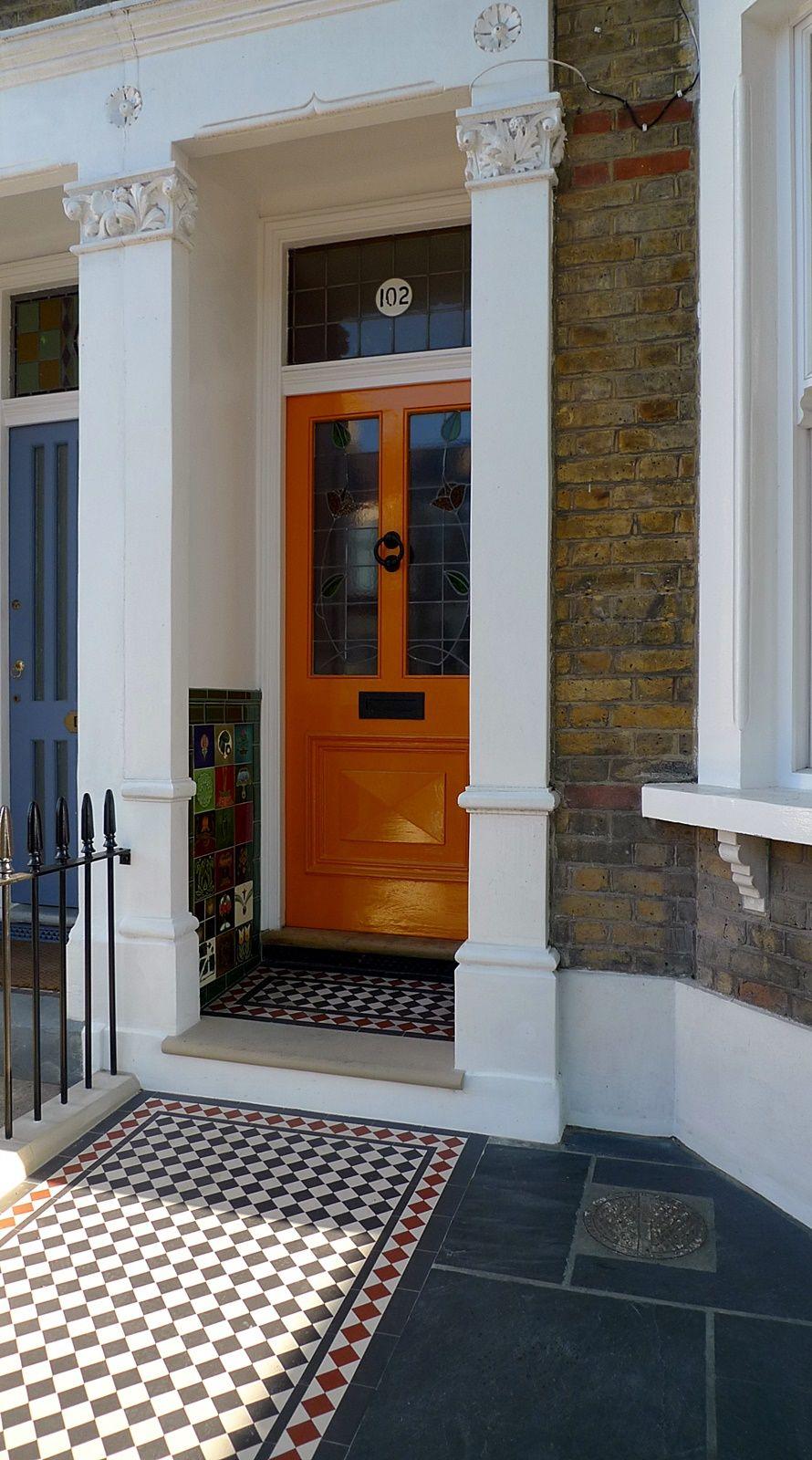 Balham London Tom Howard Gardens: Wrought Iron Rail And Gate Yellow Stock Brick Wall