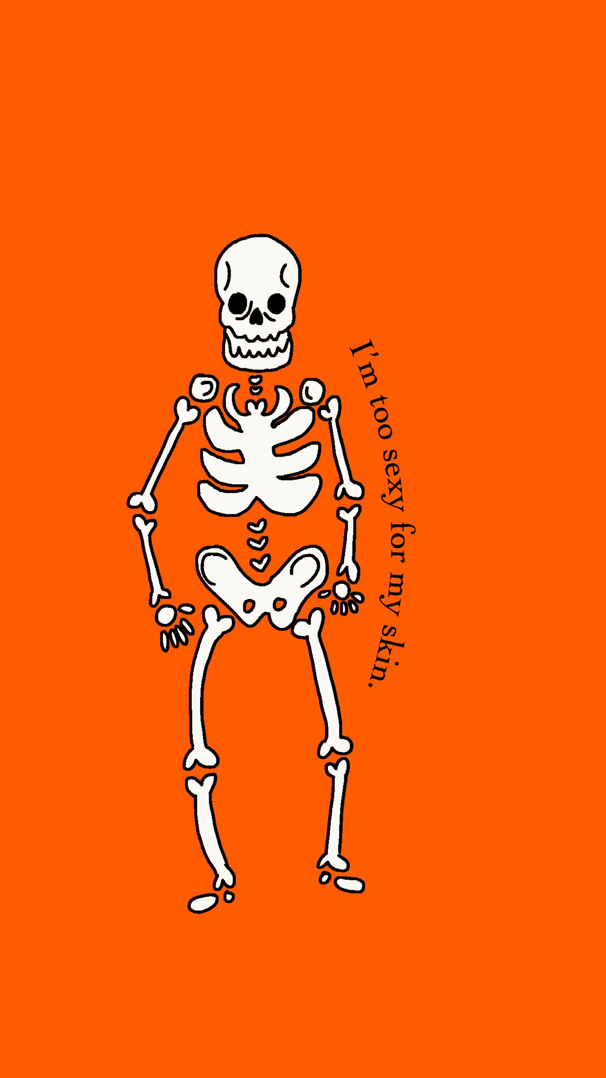 Halloween popculture words quote skeleton wallpaper