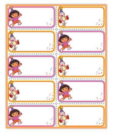 Dora Party Name Tags Nick Jr Parties Pinterest Birthdays