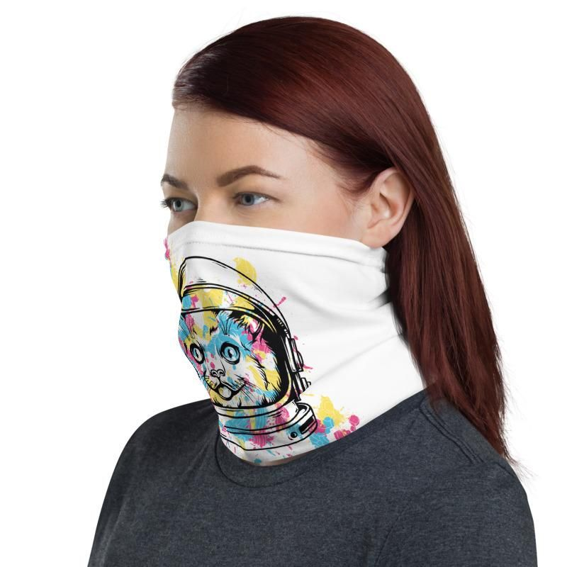 The Astronaut Cat Multifunctional Face Mask Headwear Neck Gaiter All Elements Protection
