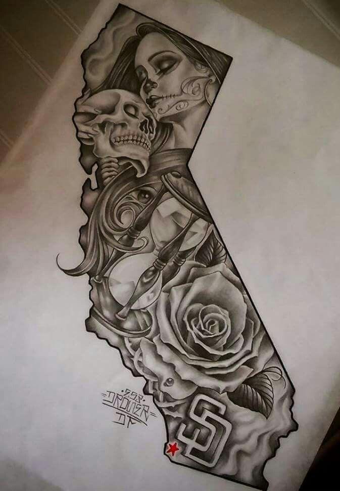 Young California San Diego Tattoo Design Tattoo Pinterest