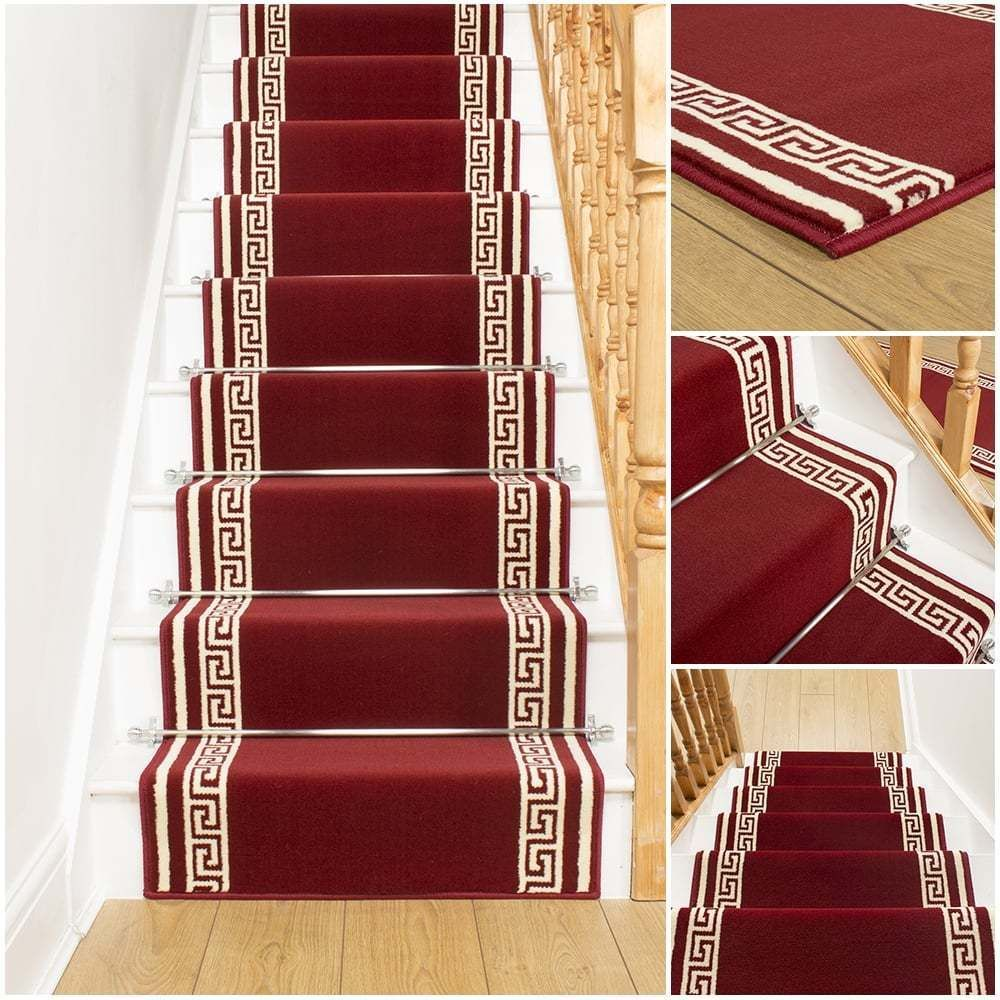 Best Key Red Stair Carpet Runner For Narrow Staircase Modern 400 x 300