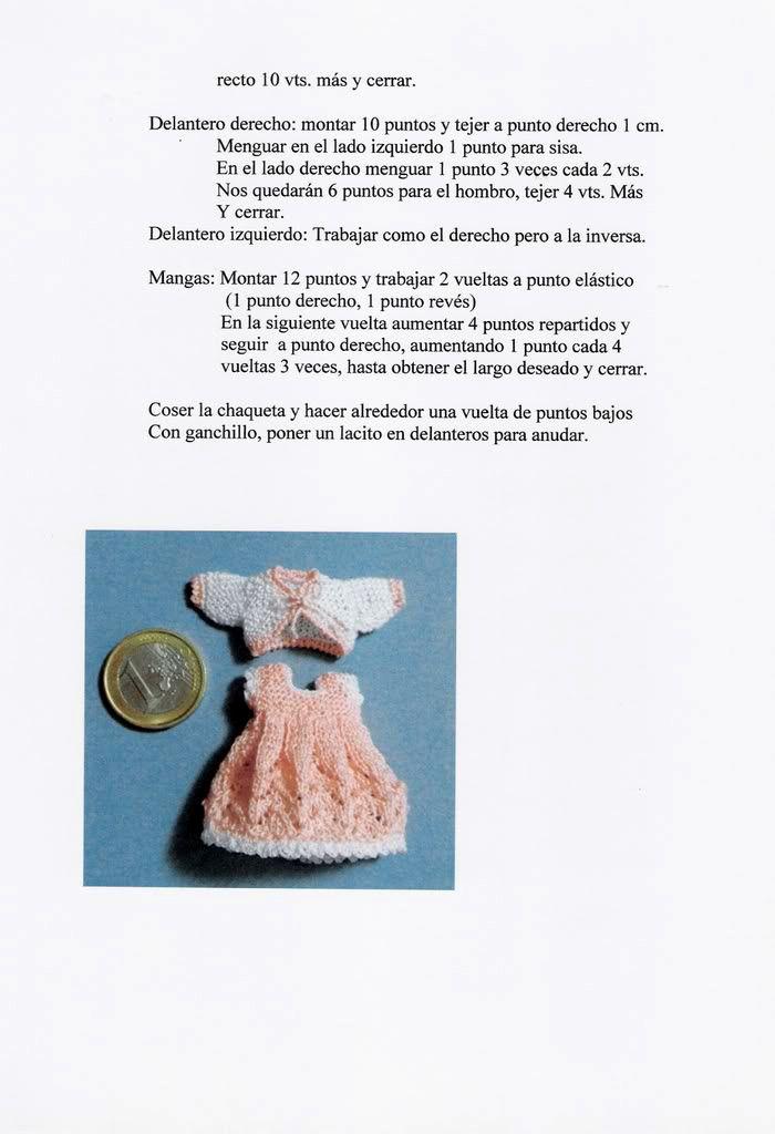 Miniaturas en mi mundo: Vestido tirantes y chaqueta. | Crochet ...