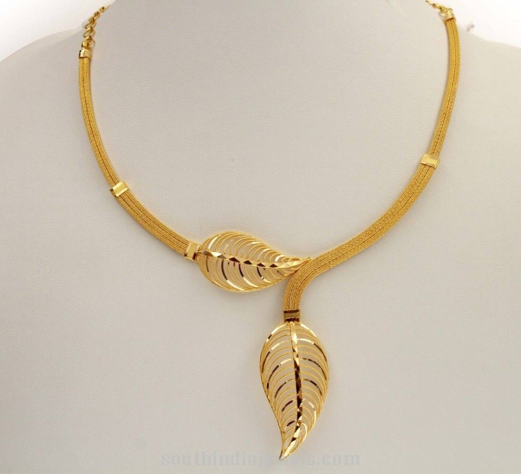 22K Gold Kerala Style Short Necklace | Gold shorts, Short ...