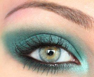 مكياج عيون ربيعي بالخطوات Midnight Garden Carnival Makeup Green Eyes