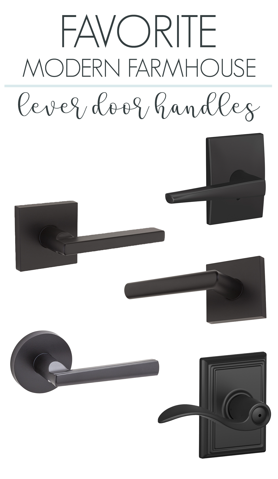 Best Modern Farmhouse Interior Door Handle Levers Modern