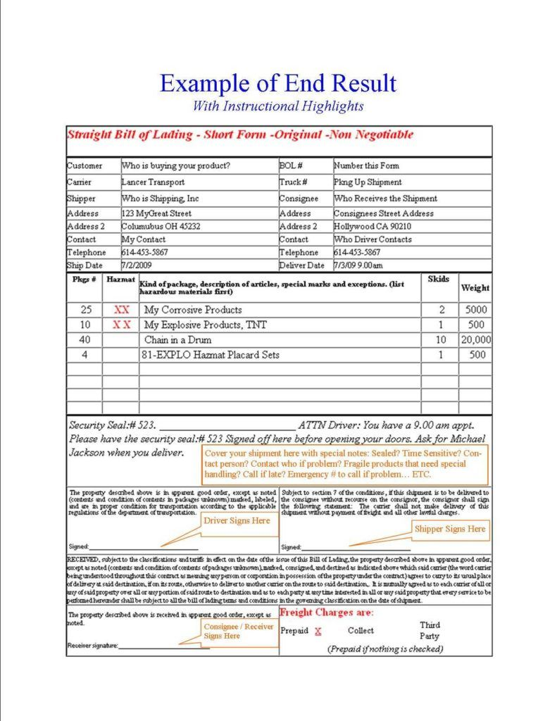 Shipping Bill Of Lading Template And Free Online Bill Of Lading Invoice Template Resume Template Free Good Essay Hazmat bill of lading template