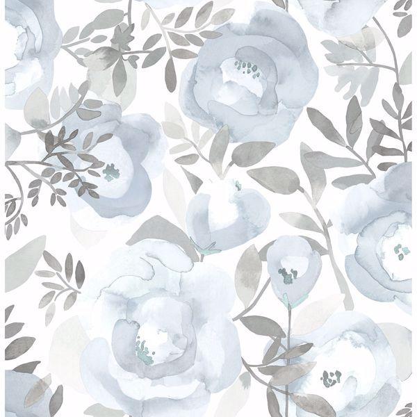 Orla Blue Floral Wallpaper