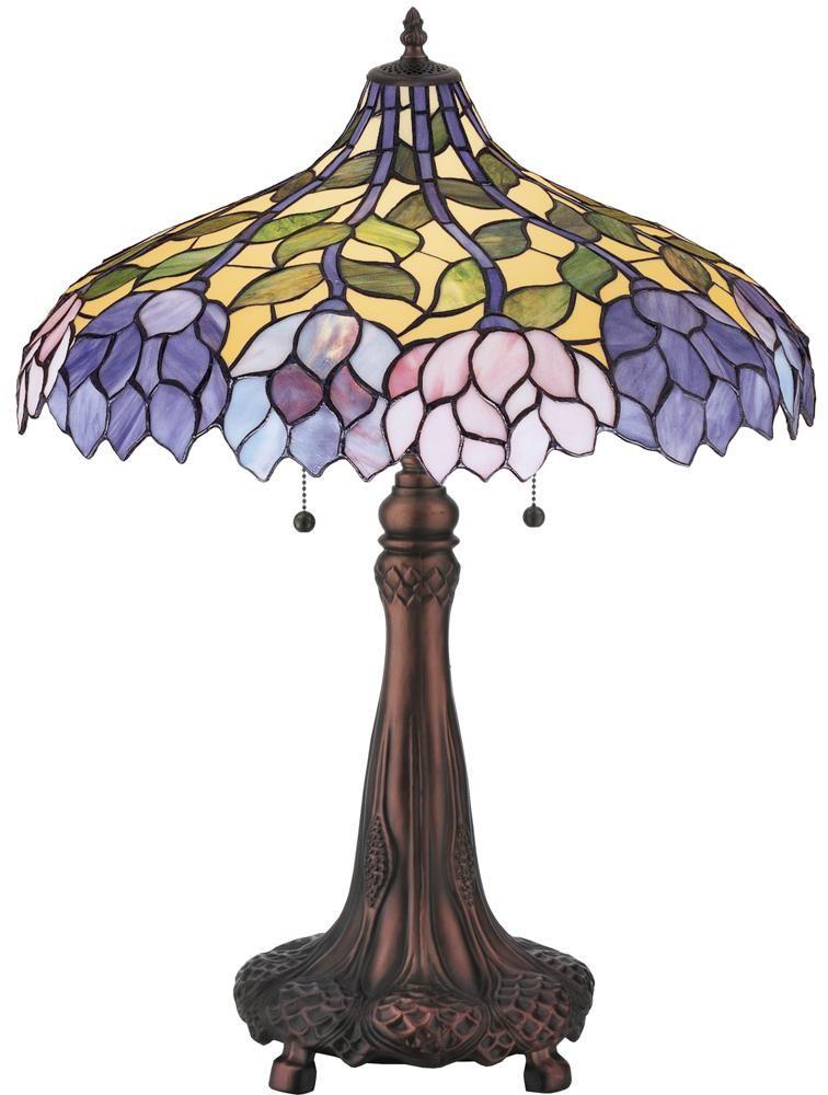 Meyda 30452 26 H Wisteria Table Lamp Tiffany Lamps Stained Glass Lamps Tiffany Stained Glass