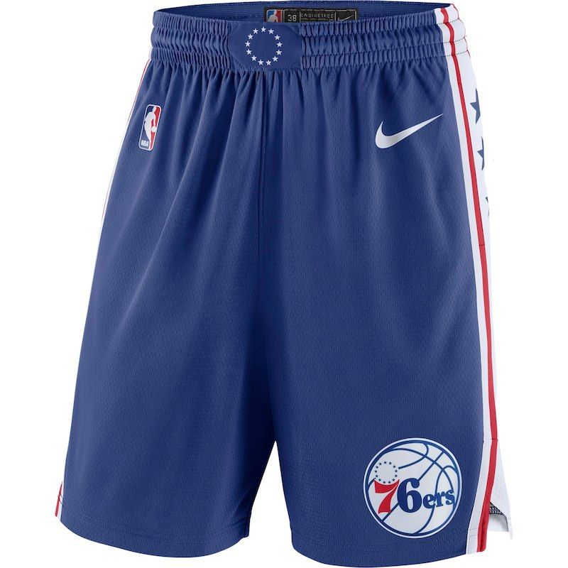 Philadelphia 76ers Nike 2018 19 Icon Edition Swingman Shorts Royal With Images Philadelphia 76ers Nike Men 76ers