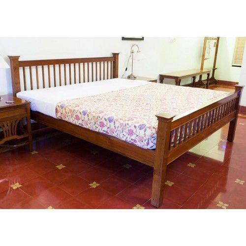 Buy Cot Royal Bed Chettinad Teak Wood Furniture Pc 15582