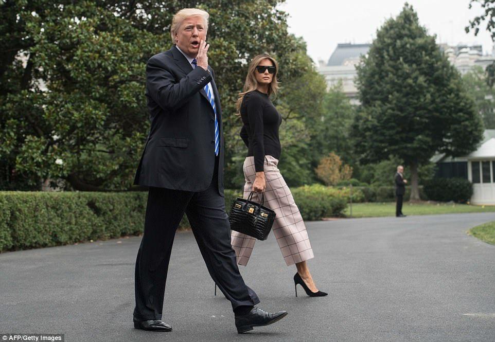 Melania Trump wears $2650 dress to hand out USA backpacks