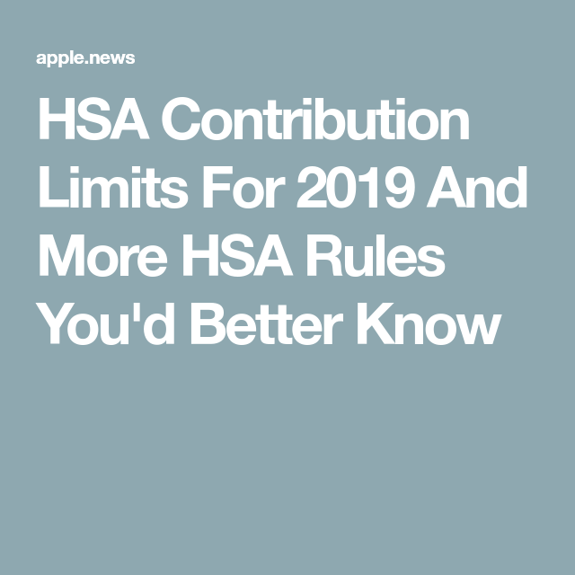 How Much Money Can You Contribute To An Hsa