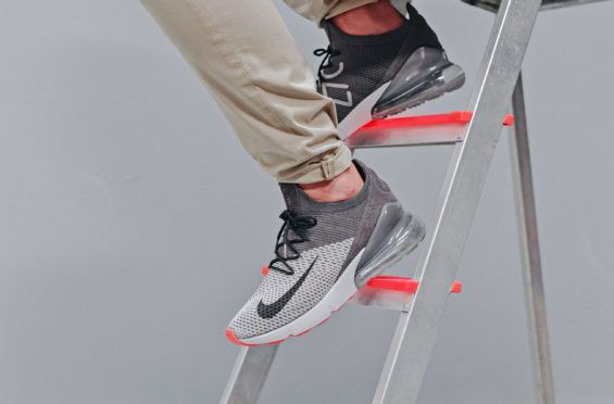 85946cf0fbf An On-Feet Look At The Nike Air Max 270 Flyknit Atmosphere Grey Fans of