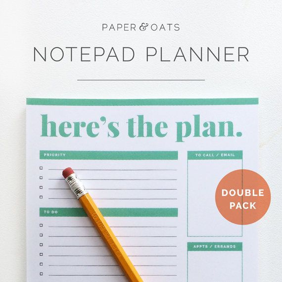 Pack To Do List Notepad Planner  Daily Weekly Monthly Desk Pad