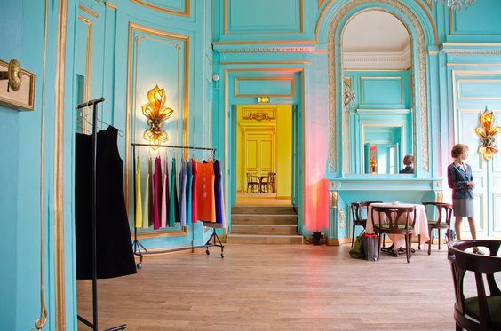 The #colours in Le Salon Bleu are so cheerful We love the #interiors ...
