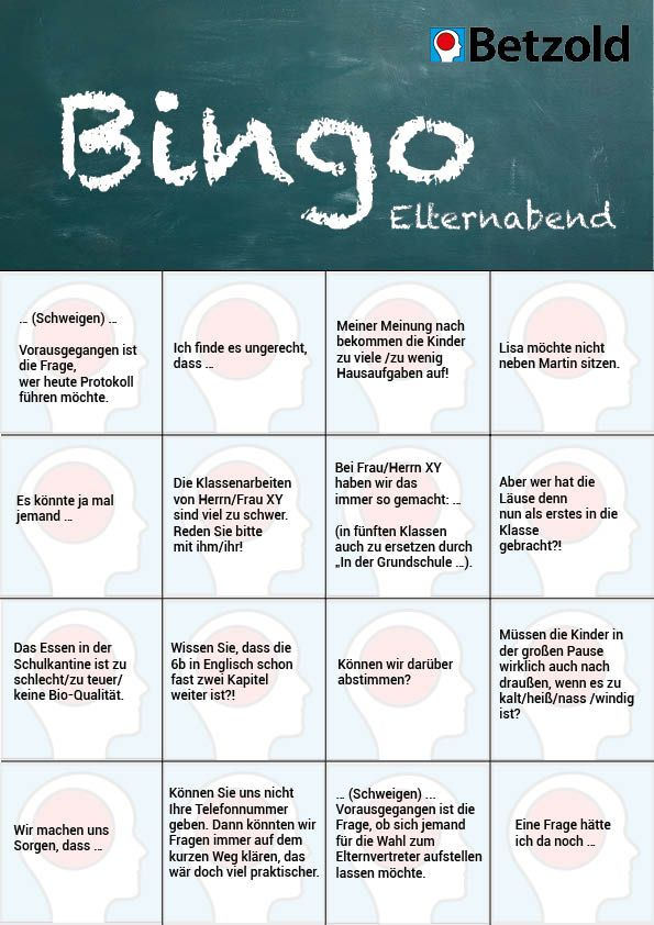 Lehrer Bingo