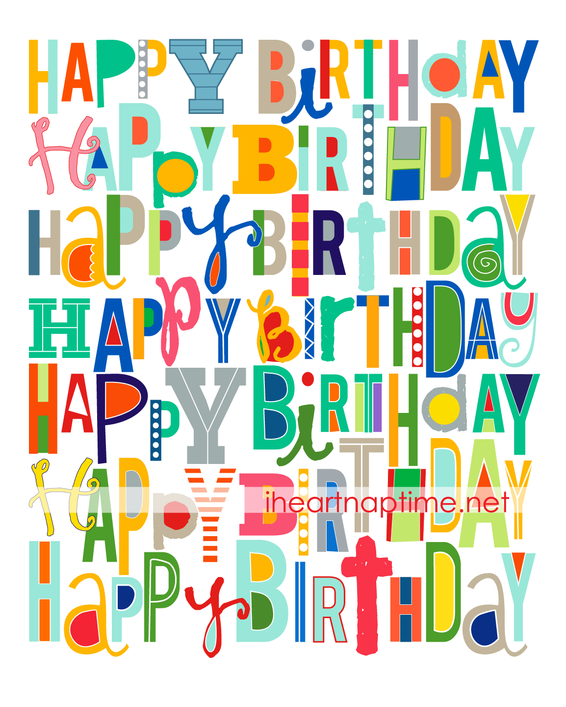 This Print Is Perfect To Use To Add Color To Birthday Celebrations