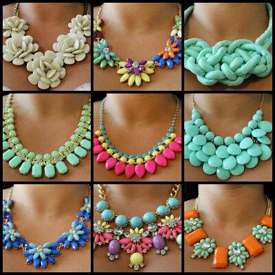 All kinds of colorful bib necklace ,statement necklace,pandora necklace ,cheap fashion jewellery shop at www.cost21.com