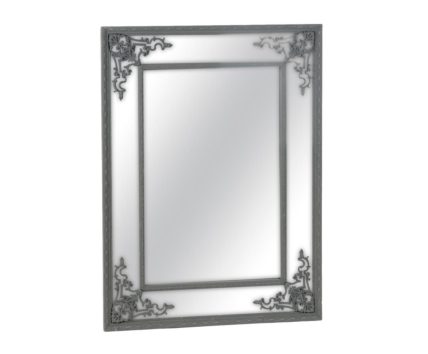 Espejo de pared de paulonia - negro | Westwing Home & Living