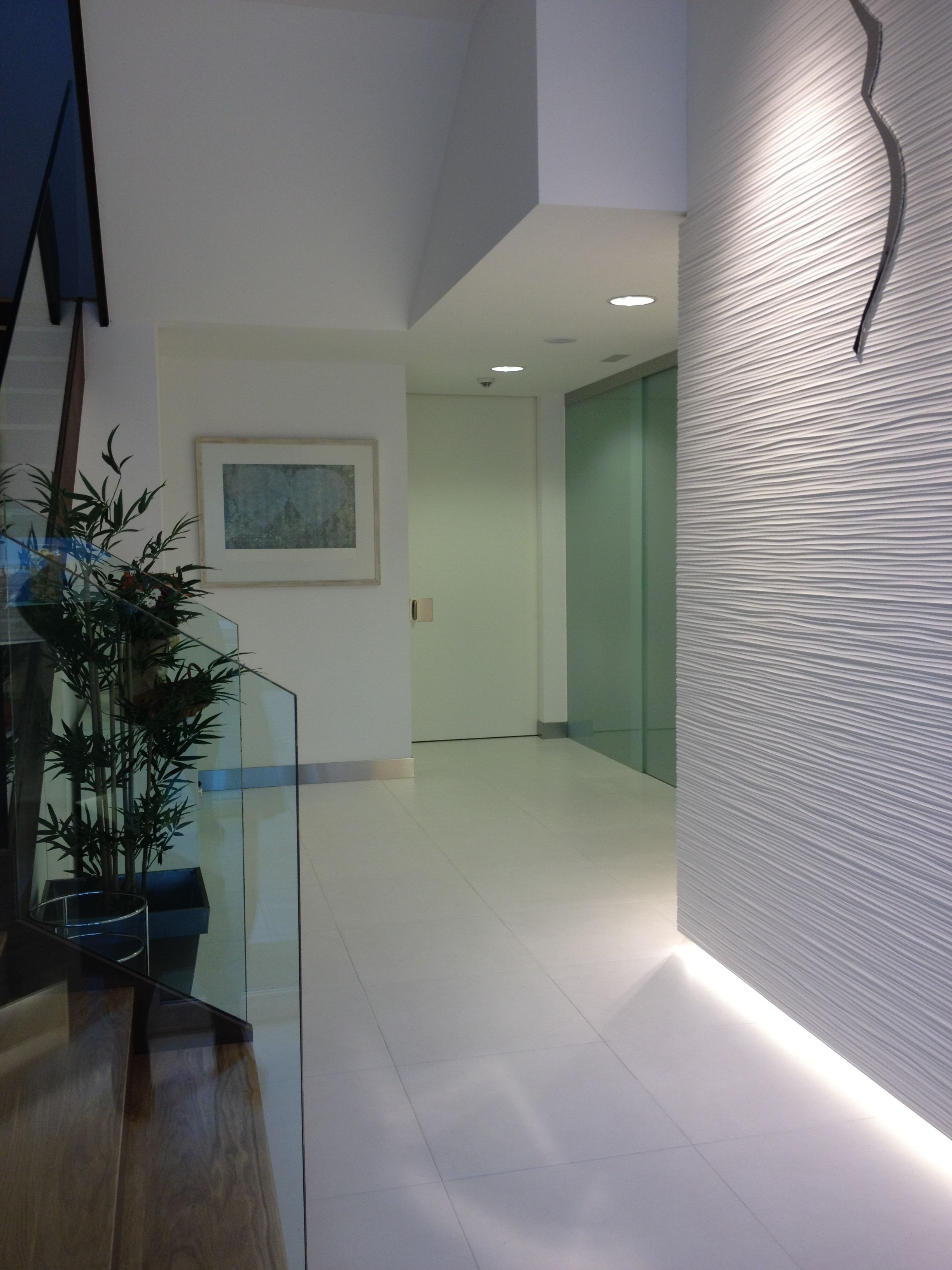 Stairs and reception in assitance reproduction clinic in santiago de