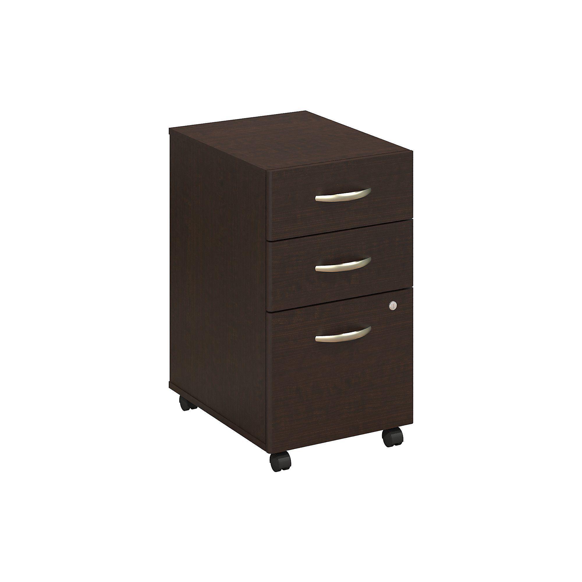 Bush Business Furniture Series C Mocha Cherry 3 Drawer Mobile Pedestal File  Cabinet By Bush Business Furniture